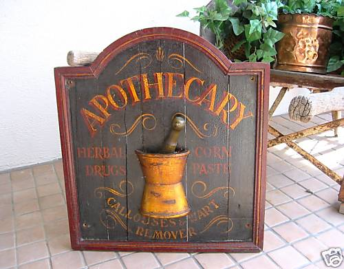 Apothecary Sign Dolen Got Off EBay After Photos Of The