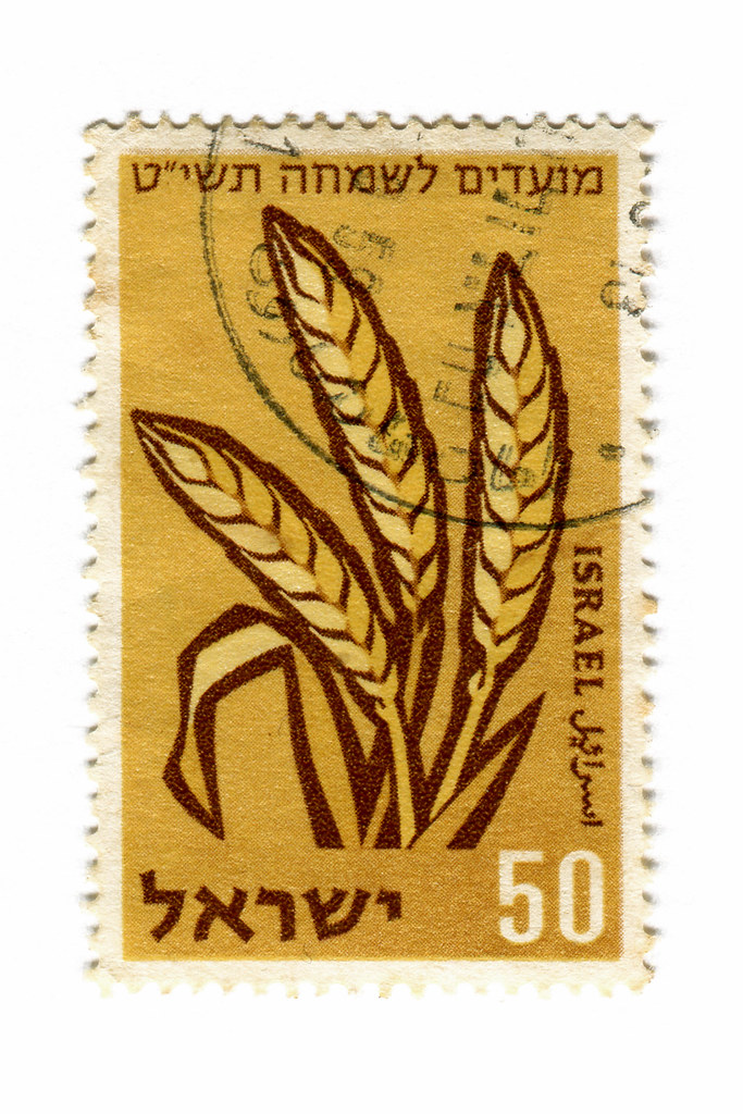 Israel Postage Stamp Wheat Catalog 181 C 1958 Part