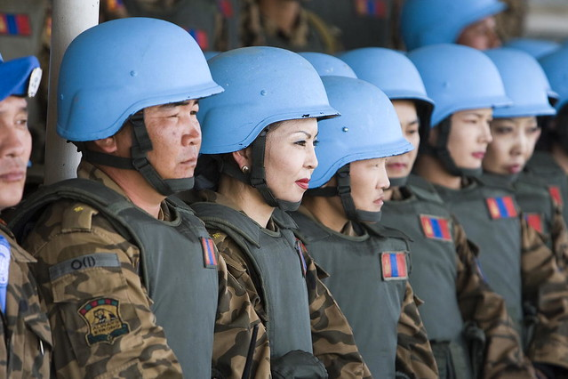 Peacekeepers at Mongolian Peace Operations Training Centre ...