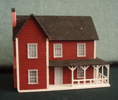 144th Scale Farmhouse Style Dollhouse We Made This
