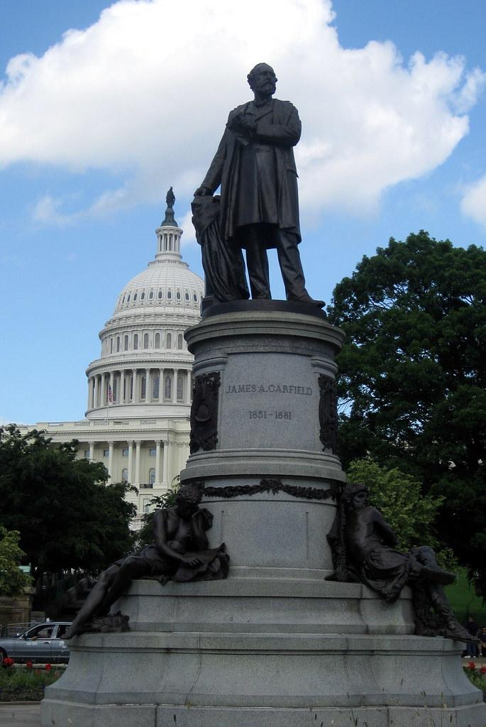 Washington Dc Capitol Hill James A Garfield Monument