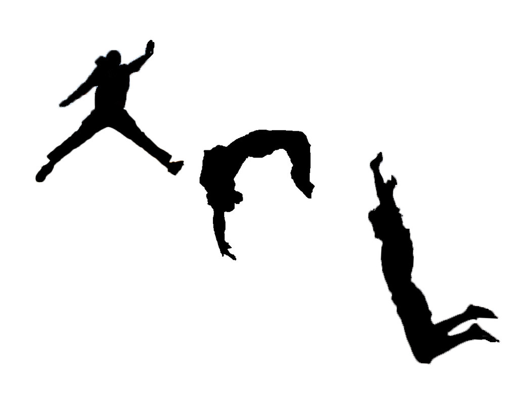 Parkour Freerunning Silhouettes