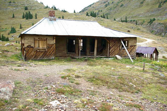 Abandoned structure, Animas Forks ghost town, Colorado, September 8, 2009