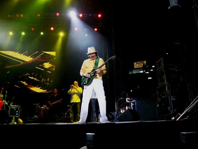 Santana Playing Bell MTS Place on March 14, 2018