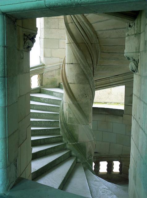 Leonardo Da Vinci Staircase In The Chambord Castle Flickr