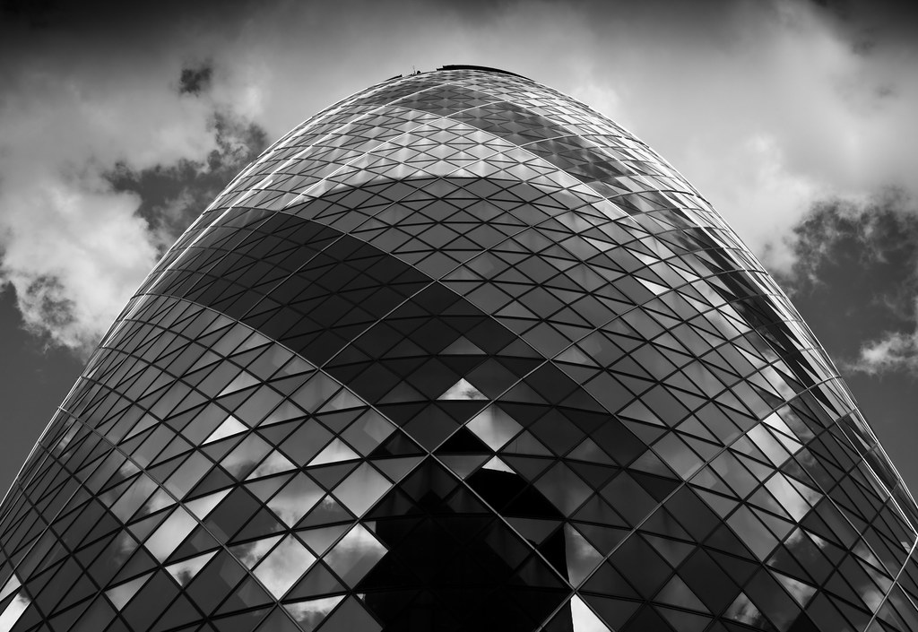 Gherkin Closeup 30 St Mary Axe Also Known As The