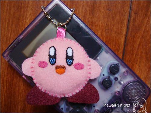 Kirby Nintendo Chaveiro de feltro Felt keychain 5cm
