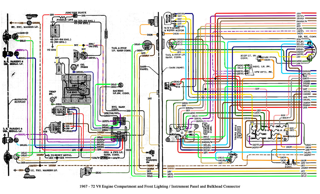 1967-72 Chevy Truck V8 And Cab Wiring
