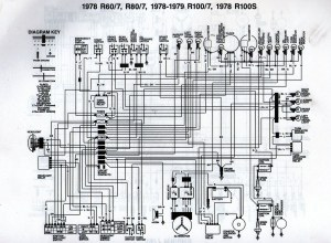 1978 BMW R807 Wiring Diagram | Scanned from a workshop