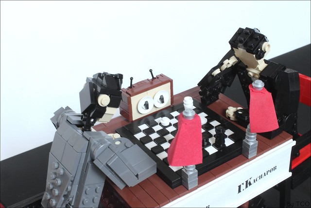 A Meeting of Great Chess Minds - LEGO MOC