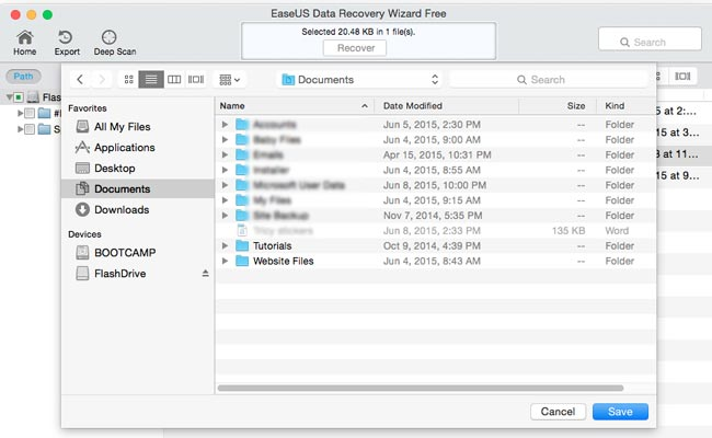 How to recover deleted files on Mac step 6