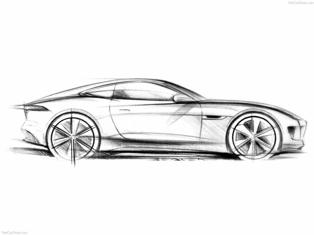 Jaguar F Type Coupe Sketch