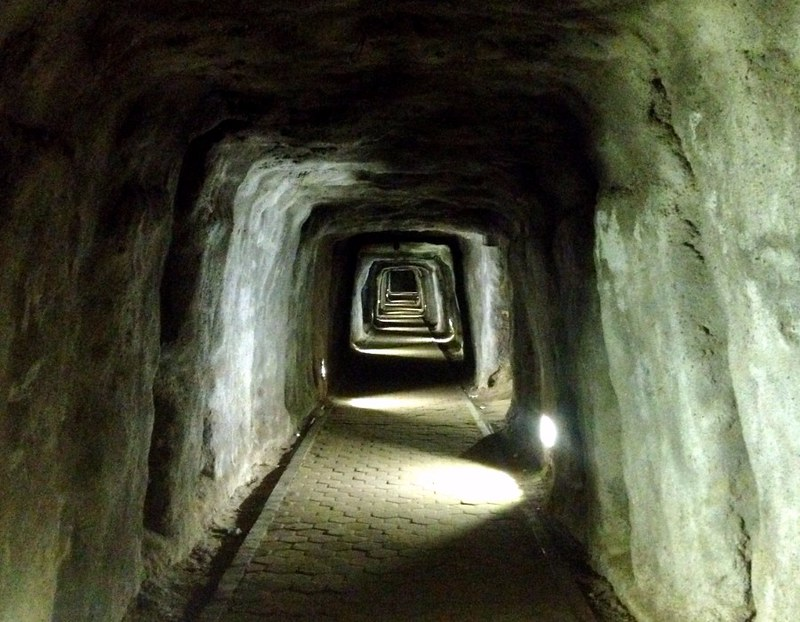 japanese war tunnel in bukittinggi in sumatra