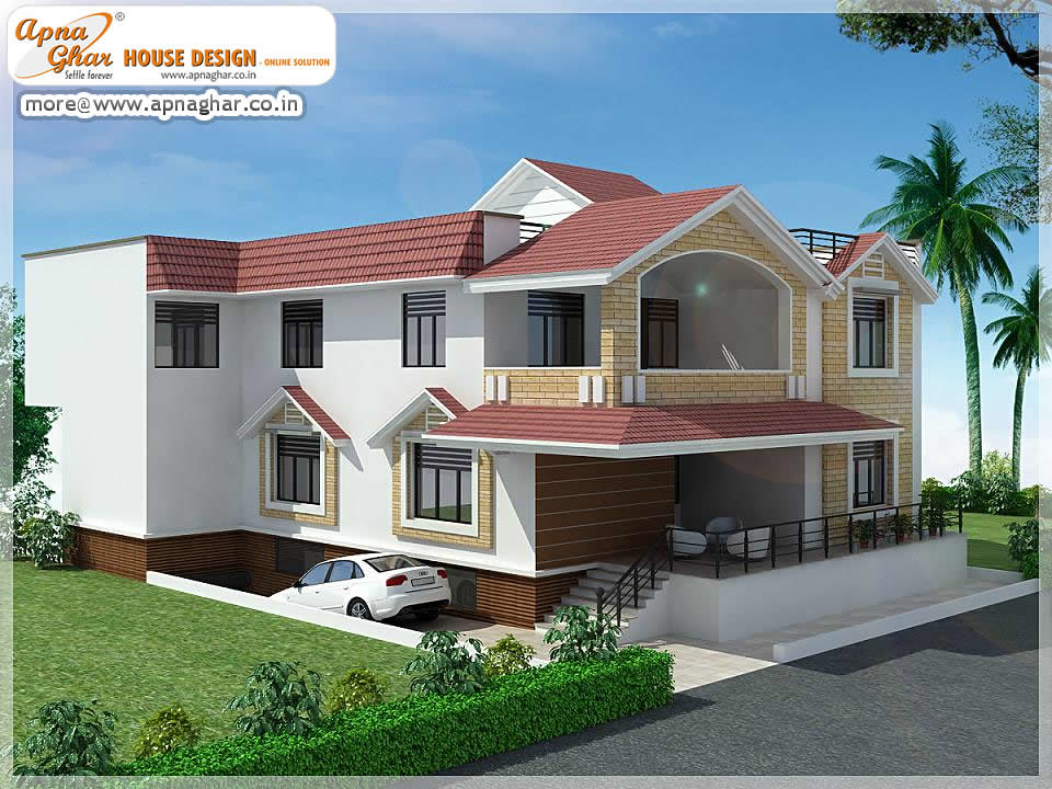 5 Bedrooms Duplex House Design