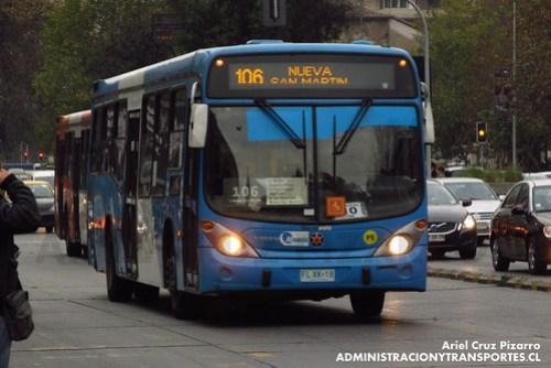 Transantiago - Inversiones Alsacia - Marcopolo Gran Viale / Volvo (FLXK18)