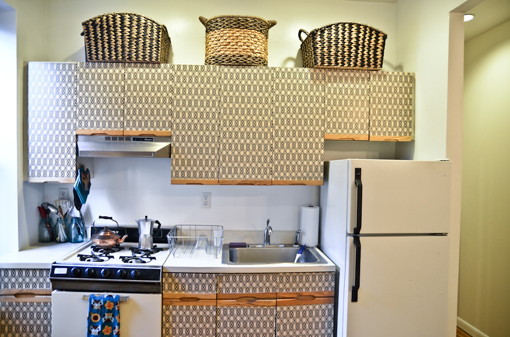 DIY Kitchen Cabinet Makeover For Renters See More On My