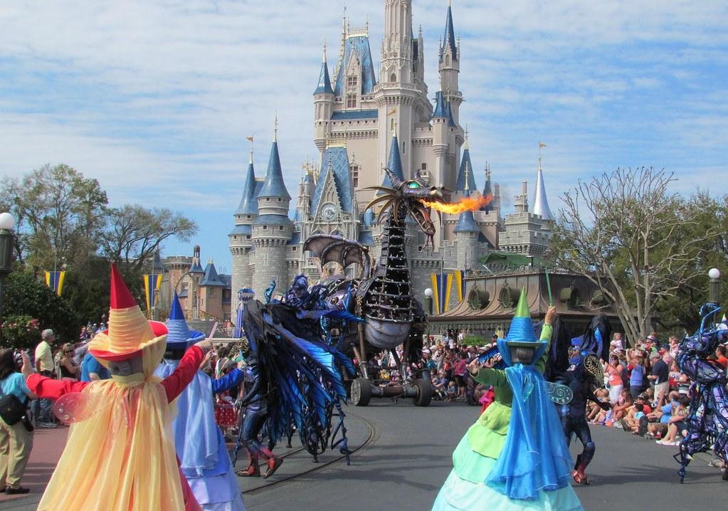 Maleficent Dragon In Disney Festival Of Fantasy Parade