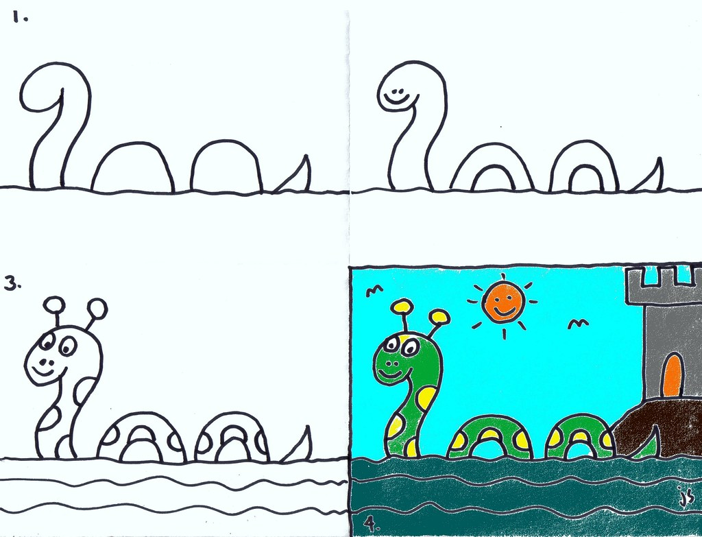 How To Draw Loch Ness Monster