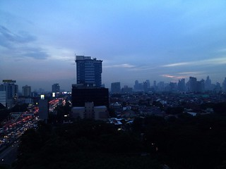 evening view of jakarta