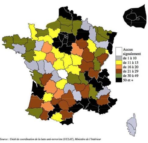 15f27 LPoint Six principales régions touchées par le phénomène Ile de France Rhône Alpes  Provence Alpes Côte d'Azur Languedoc Roussillon Nord Pas de Calais et Midi Pyrénées