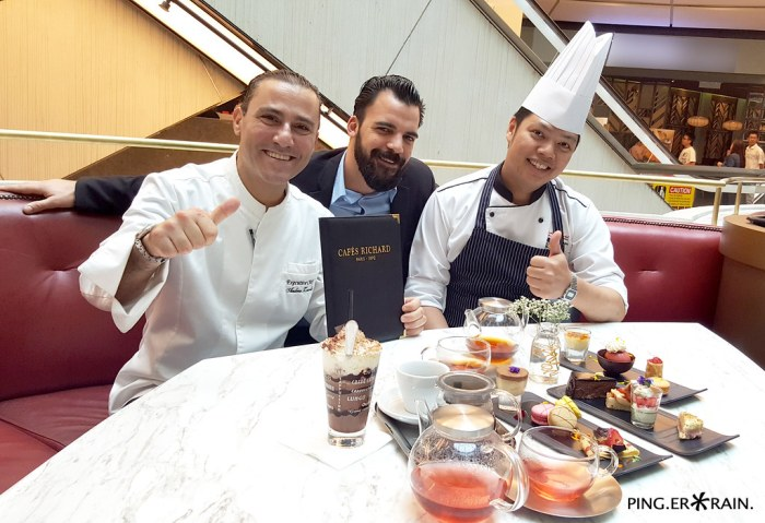 From left to right: Executive Chef Andrea Zorcolo, Barrista Michael McCauley and Malaysian Chef collaboration