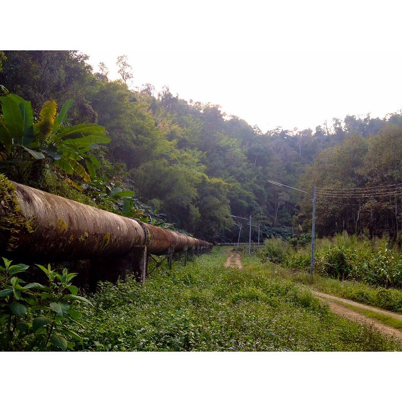 pipe line on foot of doi pha hom pok mountain