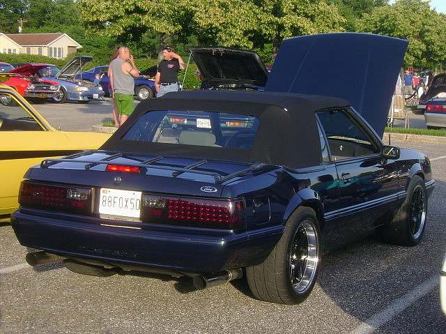 1988 Ford Mustang LX Convertible Lost In The 50s Cruise
