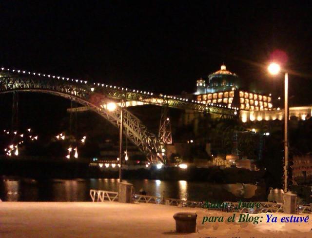 Puente de Hierro de noche, Oporto