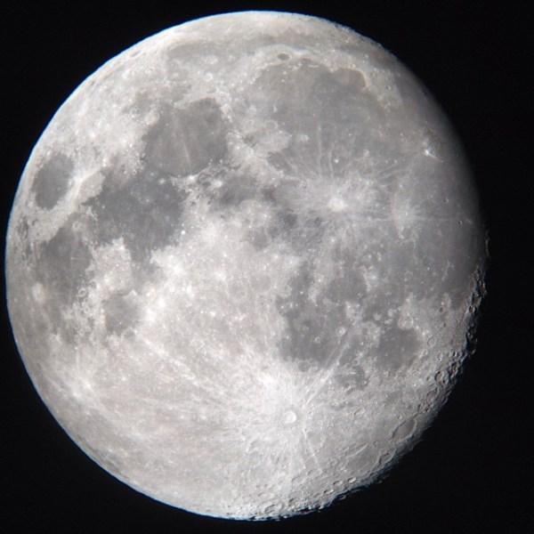 Pic of the moon through a badass telescope. Check out the ...