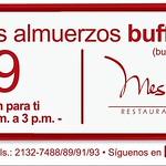 Saborea almuerzos BUFFET ejecutivo LUNCH Meson de Goya