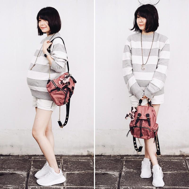 ▌Dressing the Bump ▌ 突然走起休閒風:Adidas Originals by Alexander Wang Sweater + Adidas NMD R2 Running Shoe