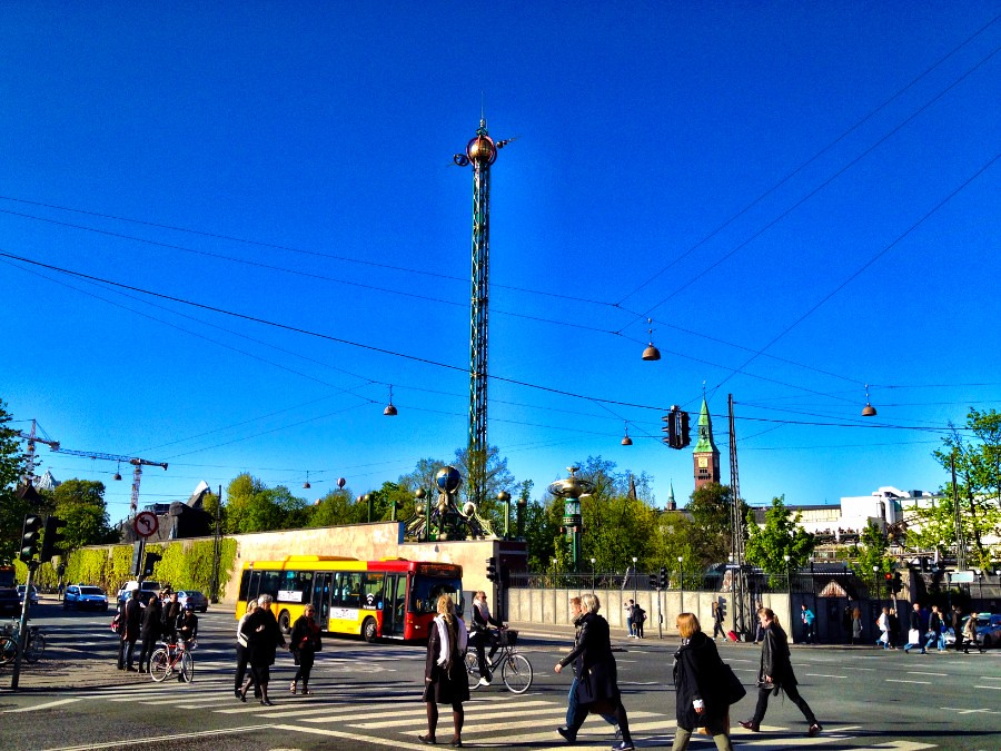 copenhagen tivoli in a sunny afternoon