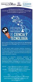Feria nacional de ciencia y tecnologia EL SALVADOR 2014
