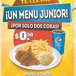 Promocion menu junion pollo campestre - 08sep14