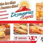 PIZZA HUT promocion Breakfast express