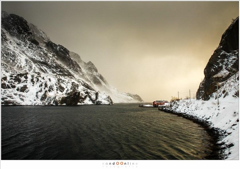 Nusfjord op Lofoten in februari 2017