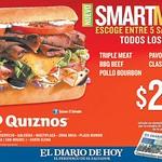 quiznos el salvador SMART menu to lunch - 09ago14