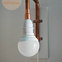diy | copper pipe wall sconce