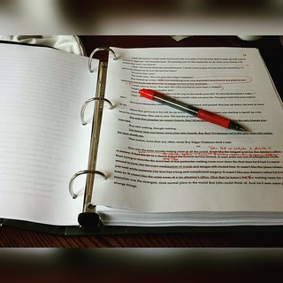 I enjoy this part of the process. #editing #amwriting #redpen