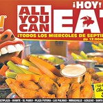 BUFALLO WINGS promotions all you can eat TODAY - 10sep14