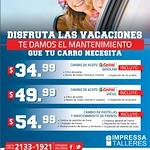 cambio de pastillas de frenos y mantenimiento para tu auto OFERTAS - 09ago14