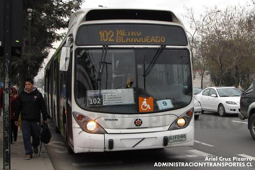 Transantiago - Inversiones Alsacia - Marcopolo Gran Viale / Volvo (BJFC90)