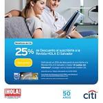 Suscripciones con descuento tarjetas de credito CITI - 11sep14
