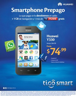 Tigo smart android cel phone HUAWEI y330 - 16sep14