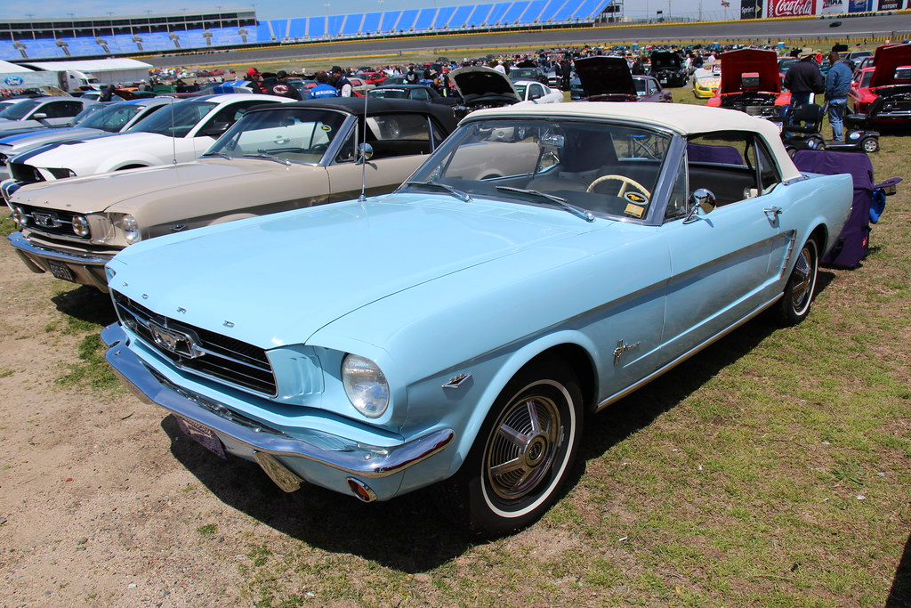 1964 Ford Mustang Convertible Skylight Blue Lee Iacocca