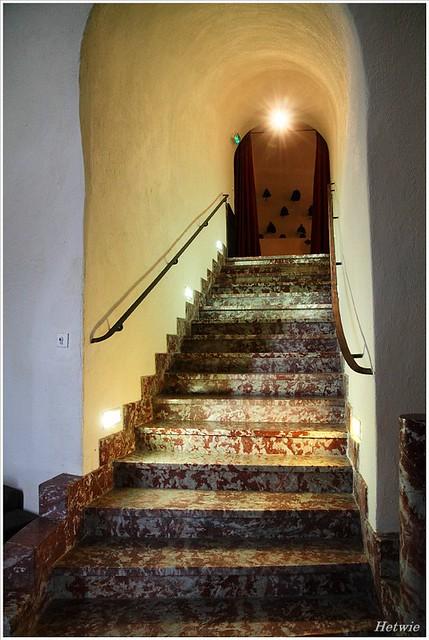 Marmeren trap, fort St Elme Frankrijk
