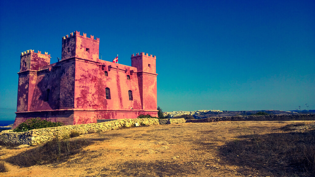 St Agathas Tower The Red Tower Mellieha Malta Flickr
