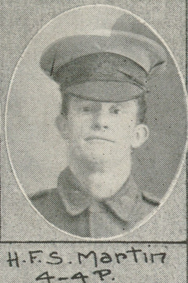 Martin, Henry Francis Samuel, Private - 16 February 1917 ...