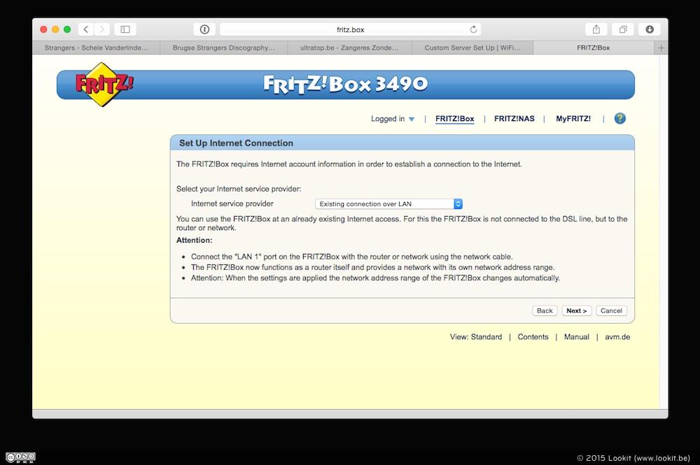 De FRITZ!Box 3490 wizard gidst je door het installatie proces