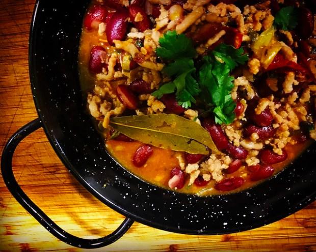 Chili mexicano de carne. koketo